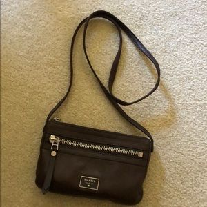 Fossil brown crossbody